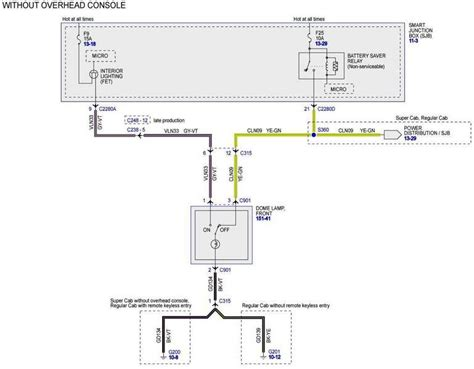 ford dome light wiring diagram ford free engine image