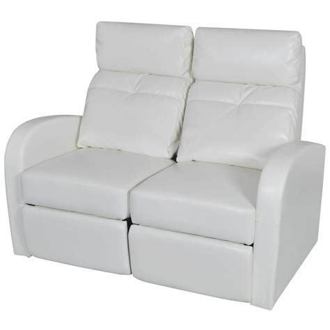 home theater  seat recliner white artificial leather