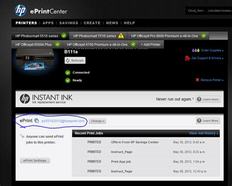 How Do I Search For On By Email Solved How Do I Find My Printer S Email Address For My Hp 4622 Prin Hp Support