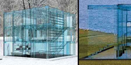 house made of glass glass house