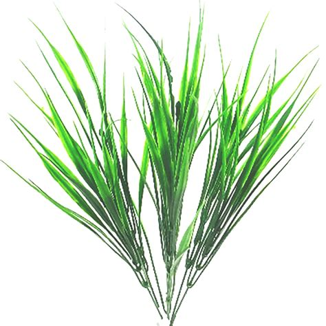 decorative grass plants 38cm artificial grass bush green decorative plant