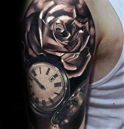 masculine rose tattoo 90 realistic designs for floral ink ideas