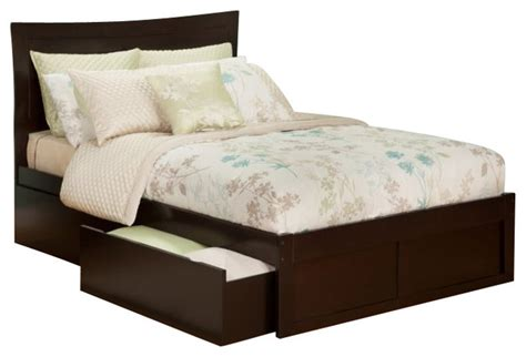 Bed With Drawer by Atlantic Furniture Metro Bed With Drawers In Espresso