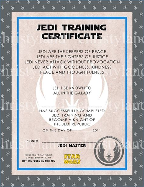 wars jedi certificate template free jedi certificate template free reeviewer co