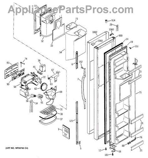 Refrigerator Door Replacement Parts by Parts For Ge Gss25wgmaww Freezer Door Parts