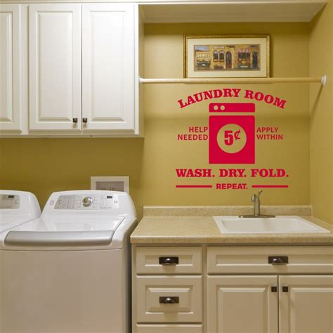 Laundry Room Stickers
