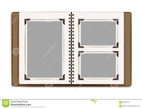 templates for photo book pages aged photo album pages with retro photo frames stock