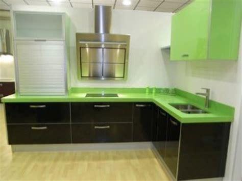 cocina encimera verde pistacho decorar tu casa es