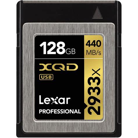 Memory Card V Lexar 128gb 2933x Xqd 2 0 Memory Card Lxqd128crbna2933 B H Photo