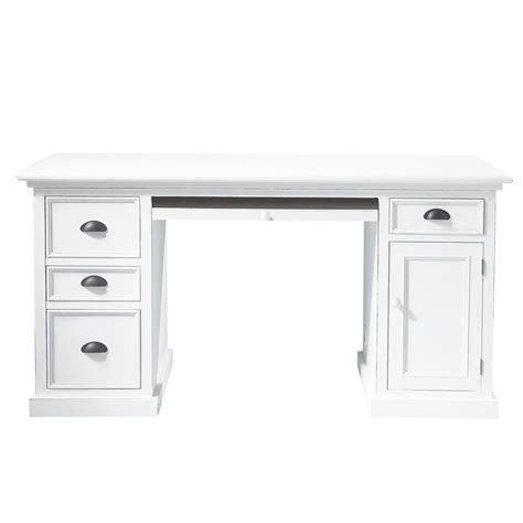 white wooden desks wooden desk in white w 150cm newport maisons du monde