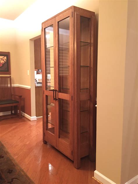 custom made china cabinets custom made contemporary mission oak china cabinet by