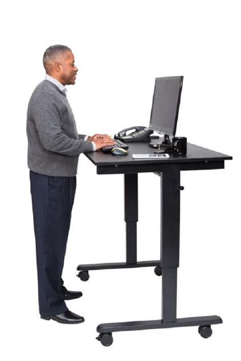 adjustable stand up desks crank adjustable stand up desk computer workstations