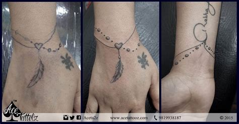 wrist tattoos and jobs bracelet a totally freehand client wanted to