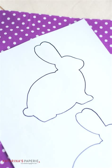 free bunny pattern template easy no sew bunny favor bags katarina s paperie