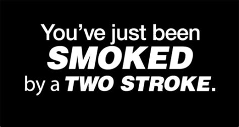 Biker Sticker Smoked By 2 Stroke easy discount