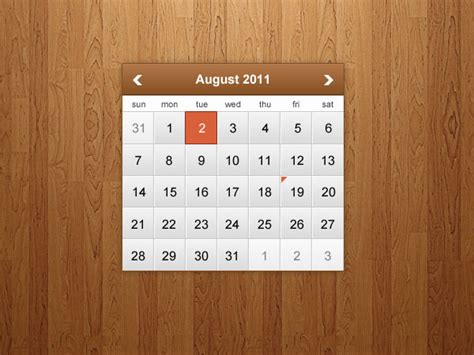 design calendar in photoshop how to design a clean and modern calendar widget in