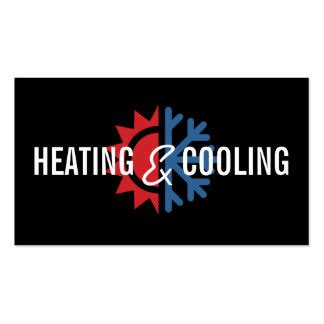 heating and air conditioning business card templates hvac business cards templates zazzle