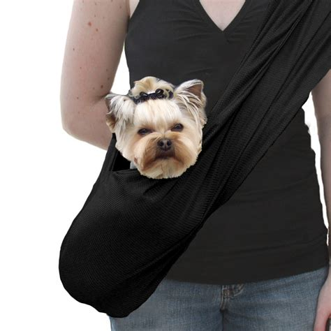 puppy carrier sporty sling carrier by susan lanci black designer puppy boutique at