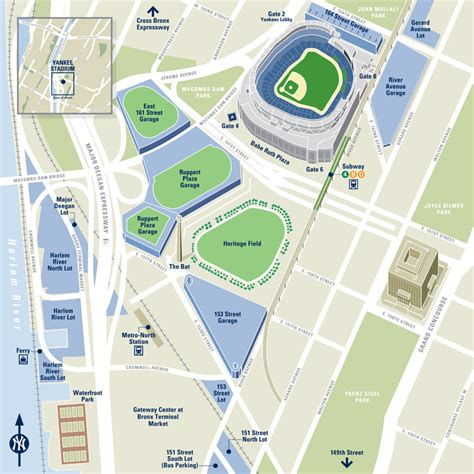 nyc parking map 1 e 161st st bronx ny yankee stadium stadiums arenas athletic fields 10451 mapquest