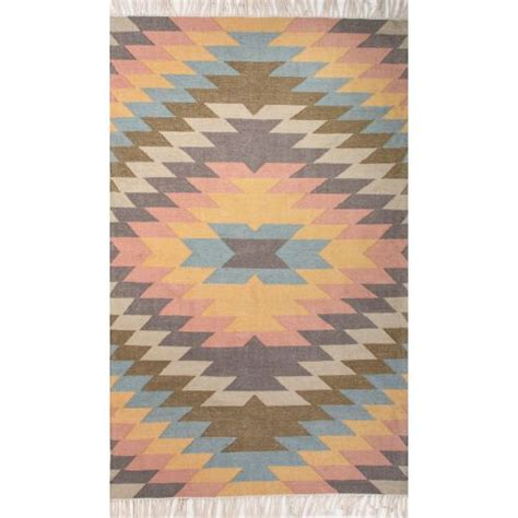 jaipur indoor outdoor tribal pattern multi polyester area