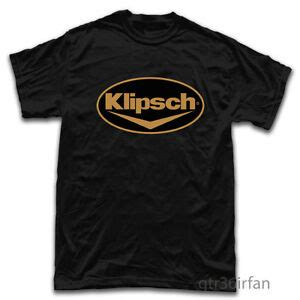 Tshirt Klipsch klipsch headphone acoustic earphone logo t shirt black ebay