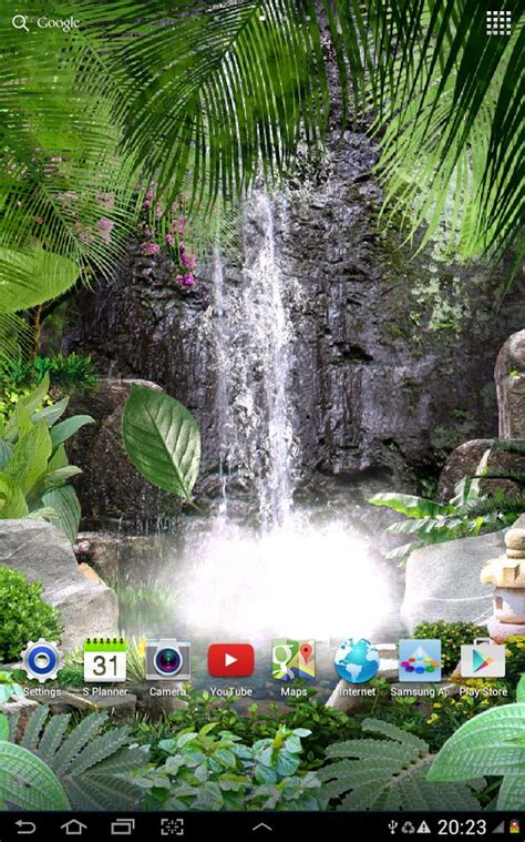 jungle waterfall live wallpaper apk tropical 3d waterfall live wallpaper free for android mobile phone