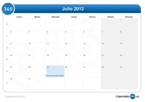 Calendario Julio 2012 Calendario Julio 2012