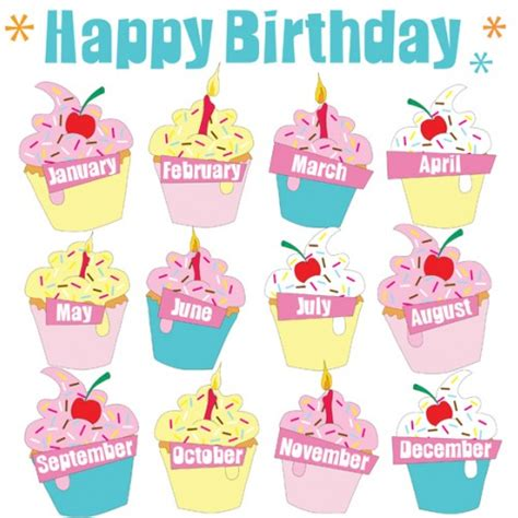 cupcake birthday chart template birthday chart printables printable maps