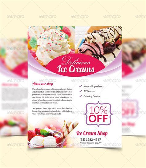 ice cream flyer magazine ad  ingridk graphicriver