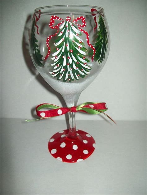 christmas tree wine glass 18 00 via etsy christmas