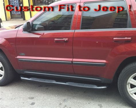 jeep grand step bars 99 04 jeep grand 4dr 3 quot side armor step nerf bars