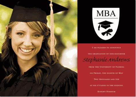 Mba Graduation Announcements Cards by Mba Photo And Black Graduation Announcements Photo