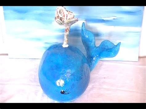 How To Make A Paper Mache Whale - diy big blue paper mache whale with a