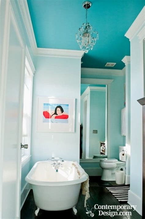 blue bathroom ceiling paint colors to brighten up a room