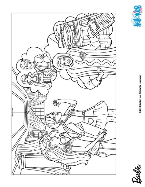 coloring pages of barbie and her friends barbie and her friend alice coloring pages hellokids com
