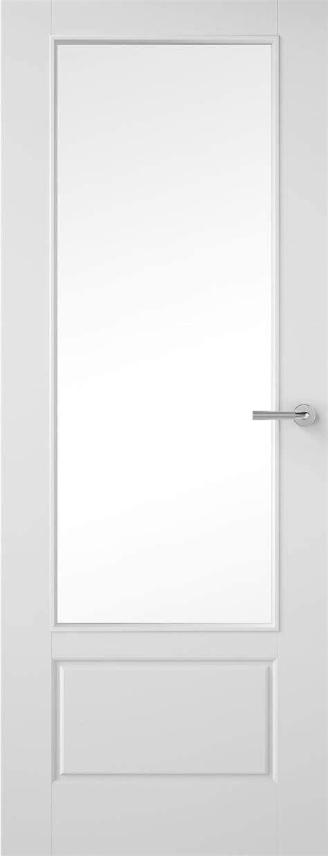 5 panel white interior doors 1 pane glazed smooth white primed door