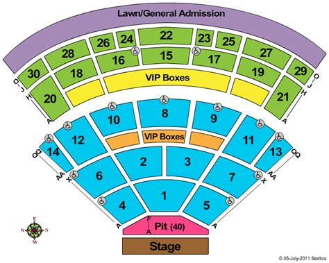 spac seating chart with numbers saratoga performing arts center seating chart