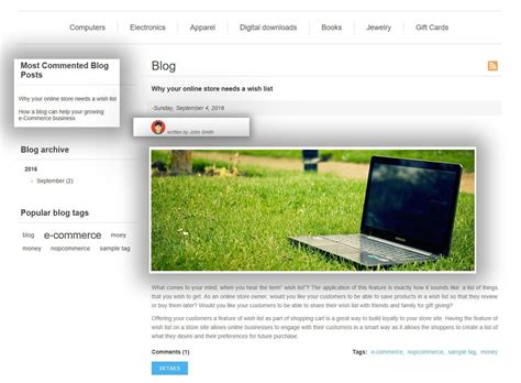 full featured full featured blog manager nopcommerce plugin striving