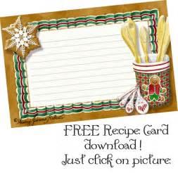 Free Christmas Recipe Card Template Recipe Binder Free Template Clipart Best