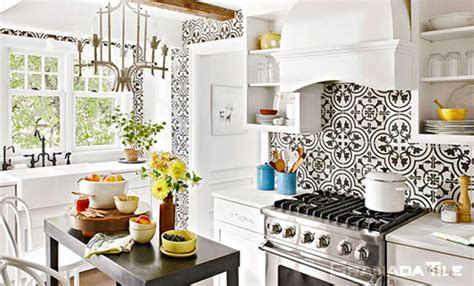 Kitchen Backsplash Design by Granada Tile In The United States Cement And Concrete