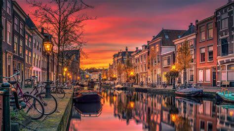 wallpaper 4k amsterdam sunset in amsterdam full hd wallpaper and background