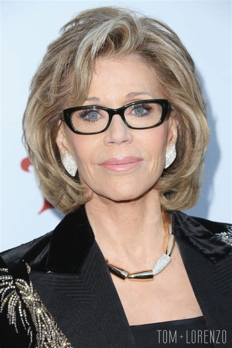 jane fonda in saint laurent at the ucla institute of the