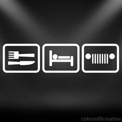 Cool Jeep Decals Eat Sleep Jeep Decal Sticker Offroad 4x4 Mud Cool