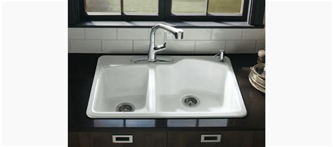 Kohler Wheatland Sink by Wheatland Top Mount Kitchen Sink With Four Faucet Holes