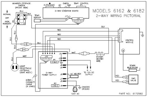 wiring diagram for a dometic refrigerator the wiring