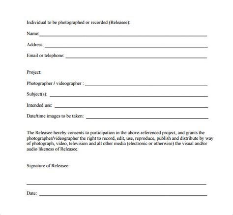 video release form 10 download free documents in pdf word