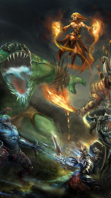 wallpaper dota  game characters hero monster fantasy