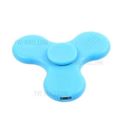 Tri Fidget Spinner Led Bluetooth Speaker Rc fidget spinner tri spinner fidget gyro with led light and bluetooth speaker for add adhd blue