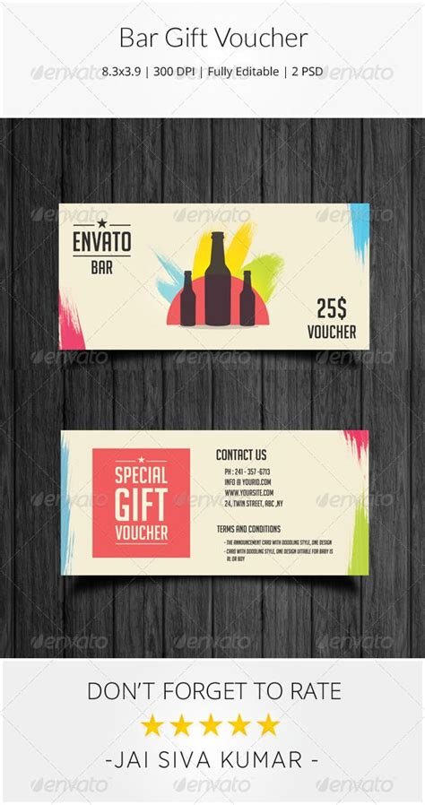 bar card template bar gift voucher loyalty loyalty cards and psd templates