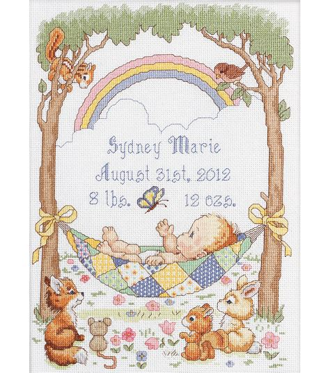 Counted Cross Stitch Kits Birth Record Bucilla Our Blessing Birth Record Counted Cross Stitch Kit Jo